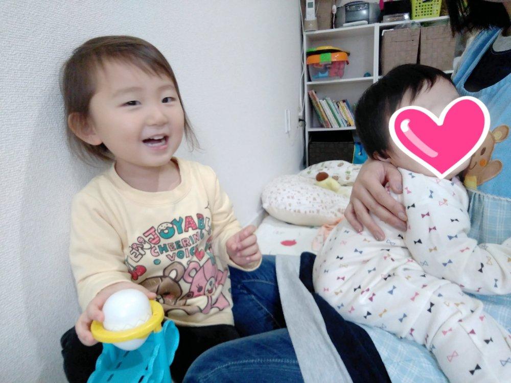 異年齢保育☆可愛い赤ちゃんとお姉さん(^^)♡