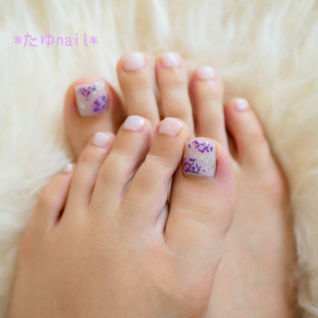 紫陽花ネイル