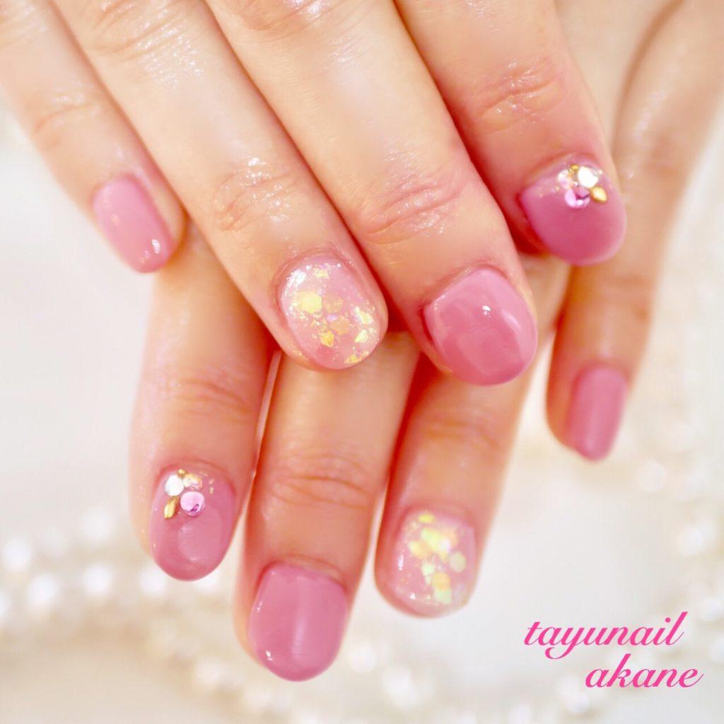 ブロッサムピンクネイル、桜カラーネイル、ネイルケア、スプリングネイル☆