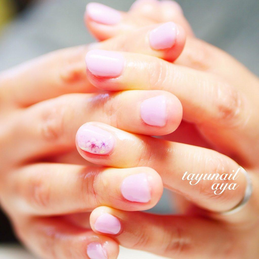 桜ネイル♪ベージュネイル♪フットワンカラーネイル♪自爪が傷まない!パラジェルネイルオフ♪